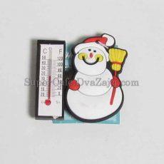 Магніт з термометром Сніговик #1